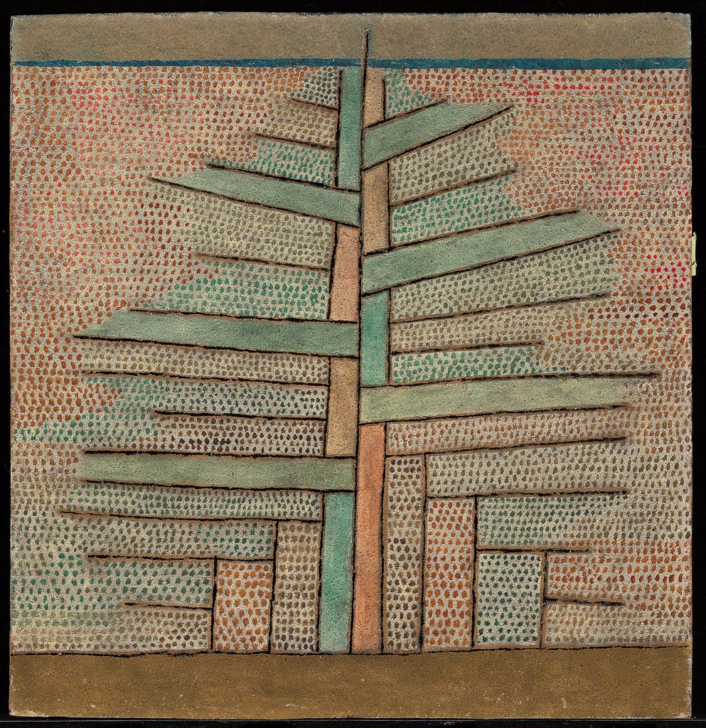 Stock Photo: 4266-27011 Pine tree by Klee, Paul (1879-1940) \ Private Collection \ 1932 \ Germany \ Oil on canvas \ Painting \ Landscape