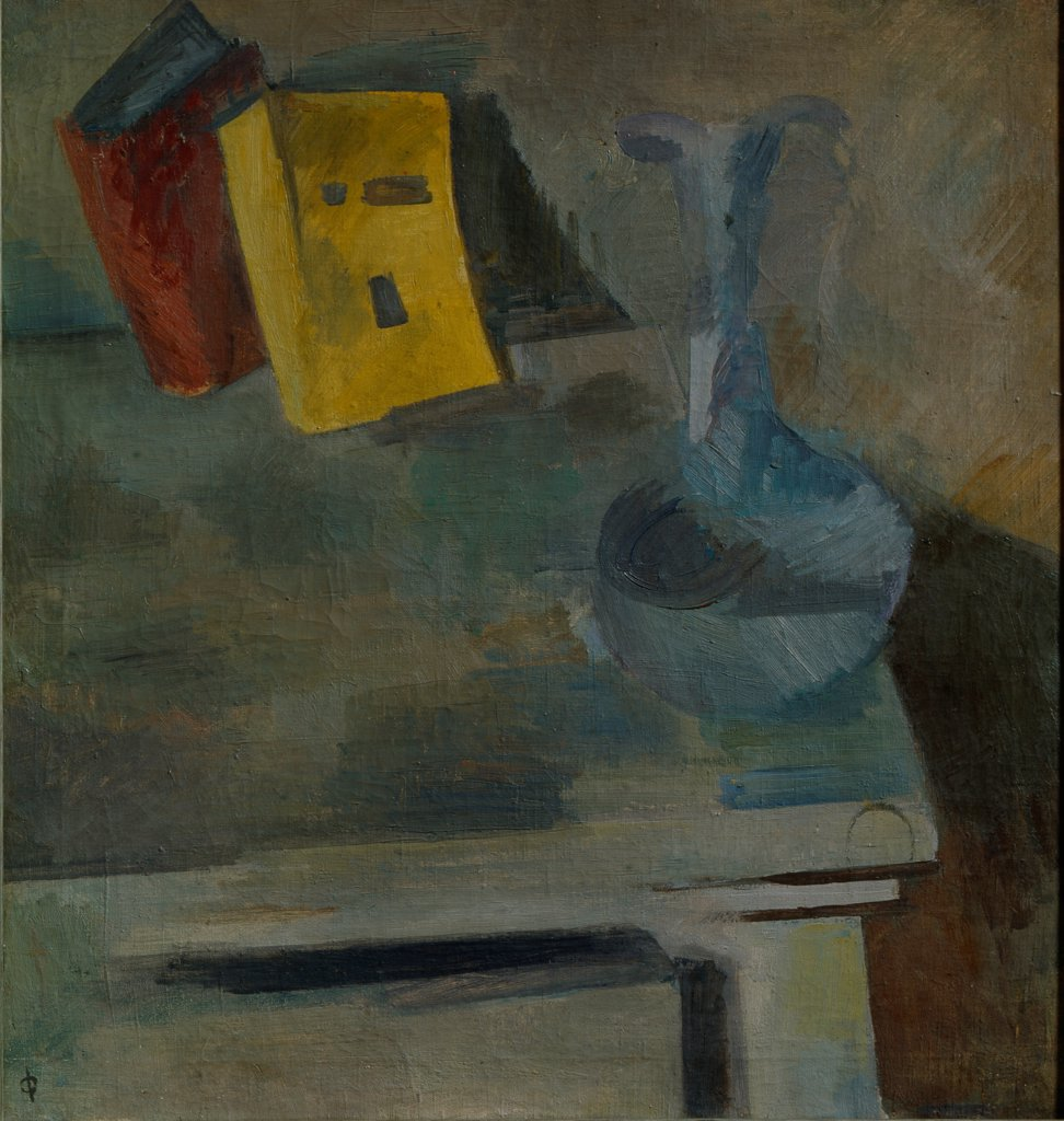 Stock Photo: 4266-27123 Still Life with Carafe by Falk, Robert Raphailovich (1886-1958) \ State Art Museum, Tula \ 1920 \ Russia \ Oil on canvas \ Painting \ Still Life