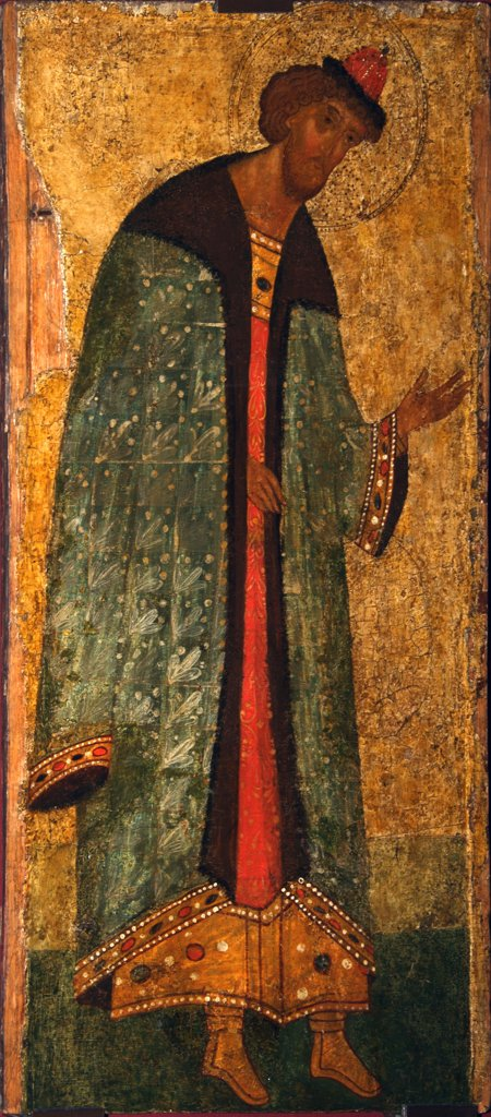 Russian icon by unknown painter, tempera on panel, 15th century, Novgorod School, Russia, Moscow, State Tretyakov Gallery : Stock Photo