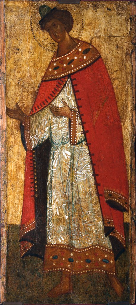 Stock Photo: 4266-2735 Russian icon by unknown painter, tempera on panel, 15th century, Novgorod School, Russia, Moscow, State Tretyakov Gallery