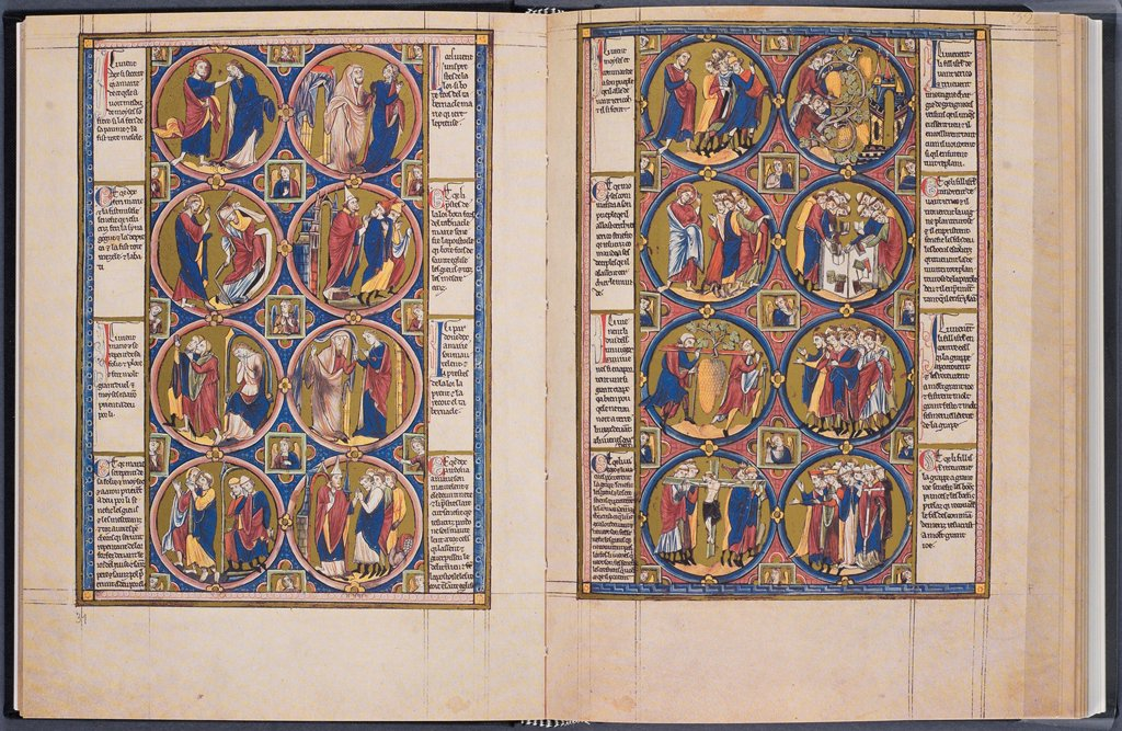 Stock Photo: 4266-28687 The Creation. Bible moralisee (Codex Vindobonensis 2554) by Anonymous   / Austrian National Library, Vienna / ca 1250 /Watercolour on parchment / Bible,Objects /
