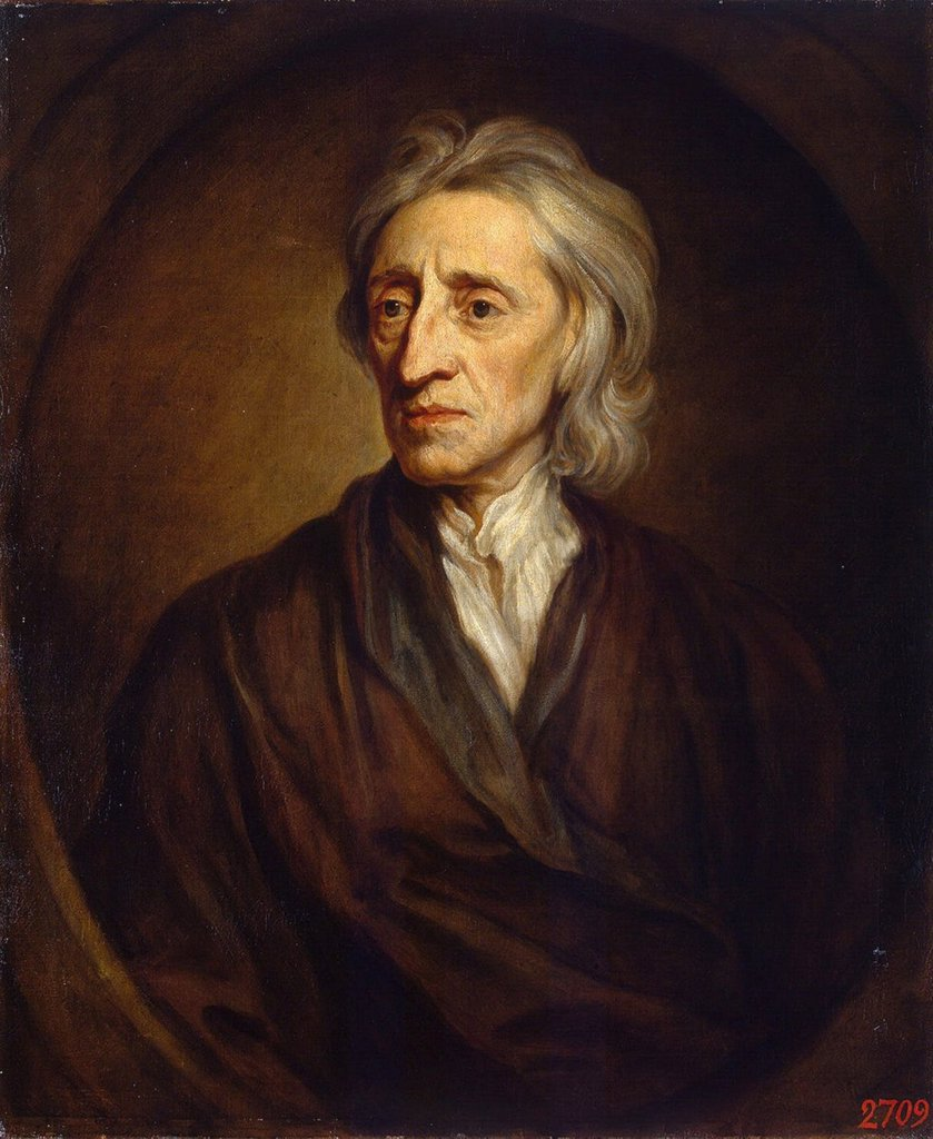 Stock Photo: 4266-3140 Portrait of John Locke by Sir Gotfrey Kneller, Oil on canvas, 1697, 1646-1723, Russia, St. Petersburg, State Hermitage, 76x64