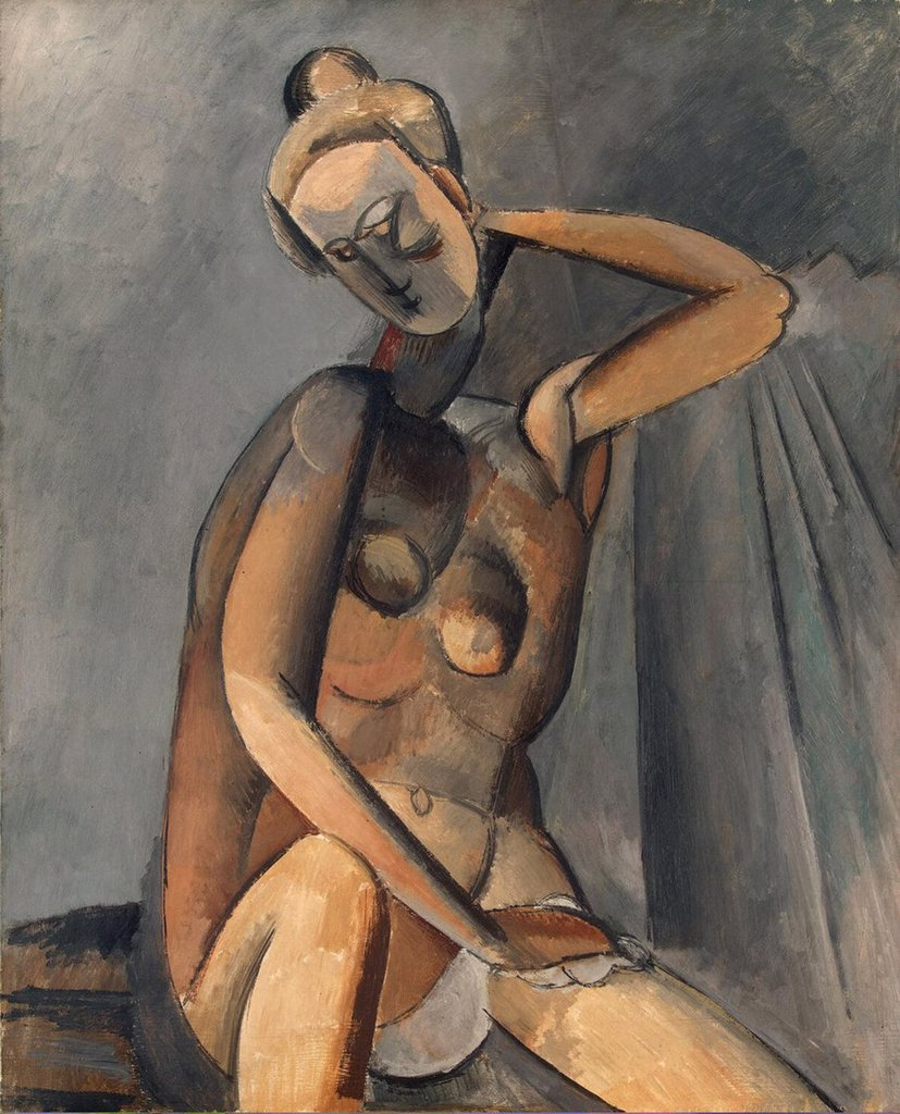 Stock Photo: 4266-3217 Picasso, Pablo (1881-1973) State Hermitage, St. Petersburg 1909 100x81,2 Oil on canvas Cubism France Nude