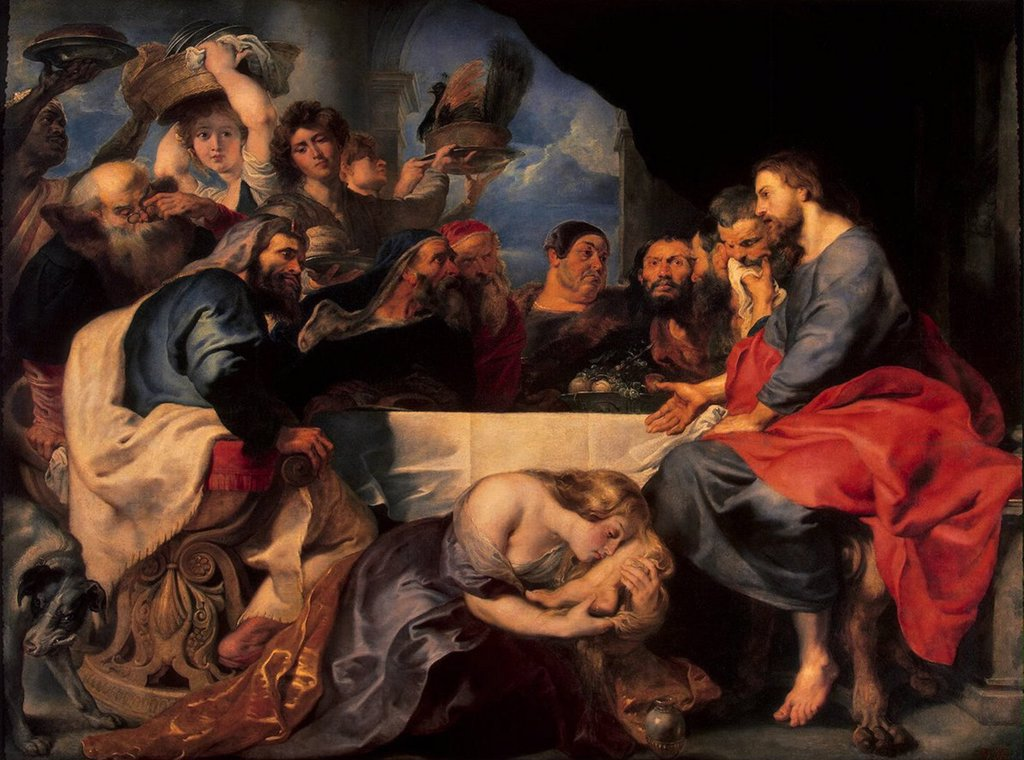 Stock Photo: 4266-3247 Religious scene by Pieter Paul Rubens, oil on canvas, between 1618 and 1620, 1577-1640, Russia, St. Petersburg, State Hermitage, 189x284, 5