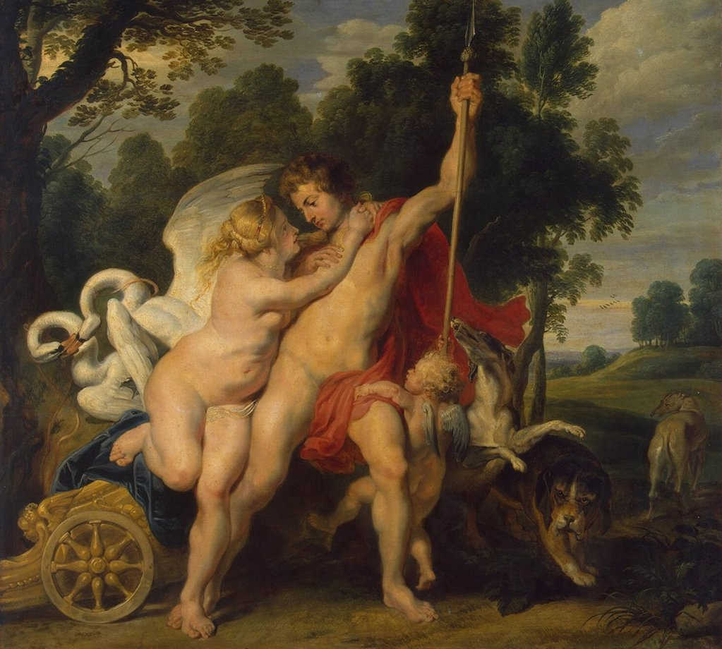Stock Photo: 4266-3248 Scene from greek mythology by Pieter Paul Rubens, oil on canvas, circa 1614, 1577-1640, Russia, St. Petersburg, State Hermitage, 83x90, 5
