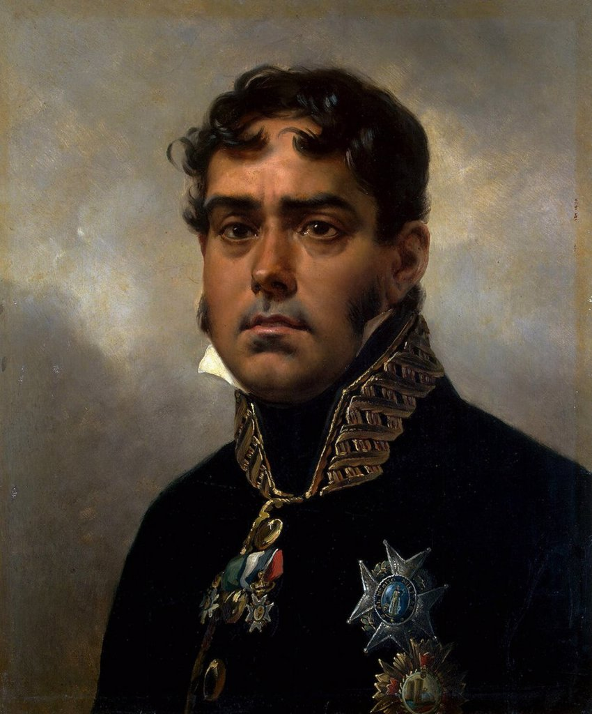 Stock Photo: 4266-3426 Portrait of spanish general Pablo Morillo by Horace Vernet, oil on canvas, 1820-1822, 1789-1863, Russia, St. Petersburg, State Hermitage, 55x46