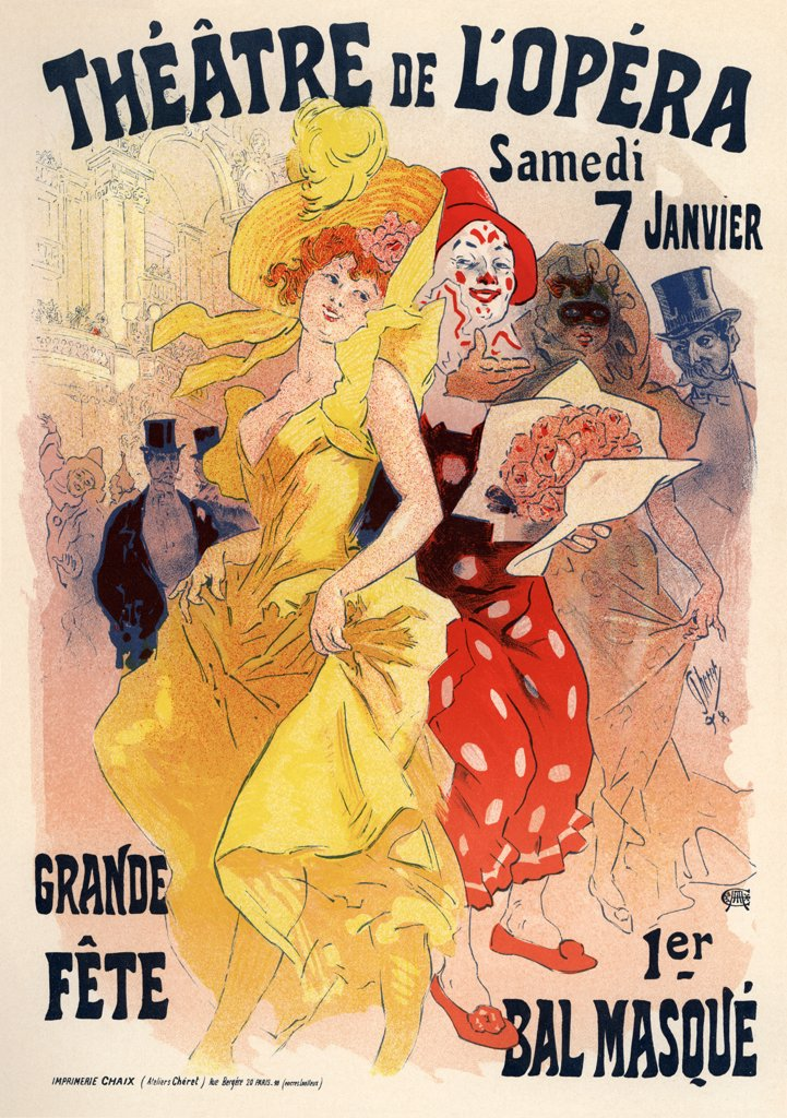 Stock Photo: 4266-3477 Poster by Jules Cheret, Colour lithograph, 1898-1899, 1836-1932, Private Collection