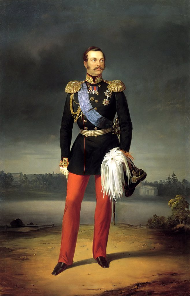Stock Photo: 4266-3656 Portrait of Alexander II by Yegor Bottman, Oil on canvas, 1856, 18..-1891, Russia, St. Petersburg, State Russian Museum, 265x172