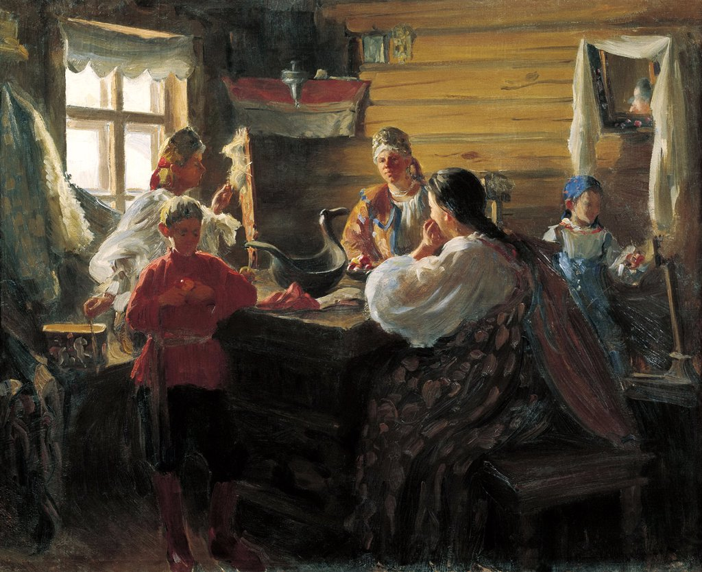 Stock Photo: 4266-3719 Kulikov, Ivan Semyonovich (1875-1941) State Museum of History and Art, Murom 1907 Oil on canvas Russian End of 19th - Early 20th cen. Russia