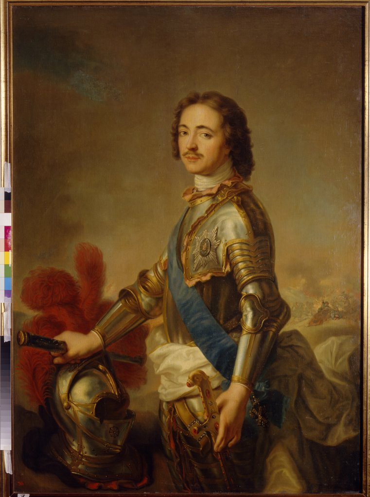 Stock Photo: 4266-3742 Portrait of Peter I the Great by Jean-Marc Nattier, Oil on canvas, 1685-1766, Russia, St. Petersburg, State Hermitage, 142x110