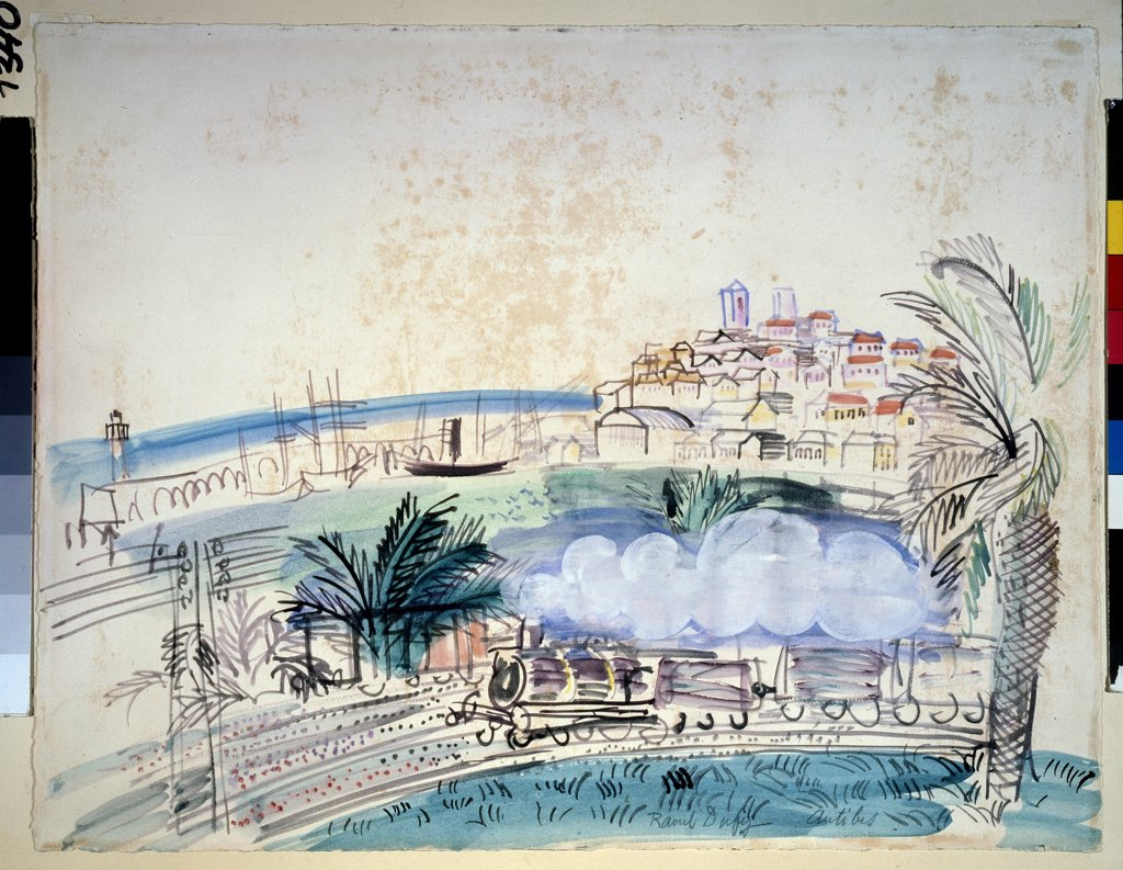 Dufy, Raoul (1877-1953) State A. Pushkin Museum of Fine Arts, Moscow 1926 50,3x64,9 Watercolour, Gouache on Paper Fauvism France  : Stock Photo