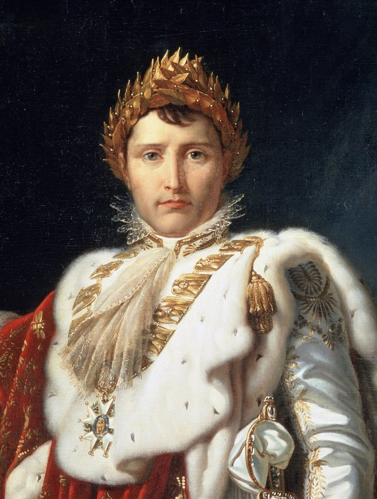 Portrait of Napoleon Bonaparte by Francois Pascal Simon Gerard, oil on canvas, 1770-1837, Russia, Moscow, State A. Pushkin Museum of Fine Arts : Stock Photo