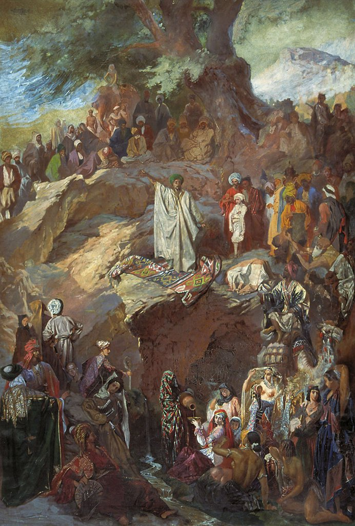 Stock Photo: 4266-4287 Cave of Hira by Grigori Grigorievich Gagarin, oil on canvas, 1840-1850, 1810-1893, Russia, St. Petersburg, State Russian Museum