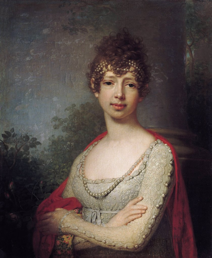 Maria Pavlovna by Vladimir Lukich Borovikovsky, Oil on canvas, 1804, 1757-1825, Russia, St. Petersburg, State Open-air Museum Palace Gatchina, : Stock Photo