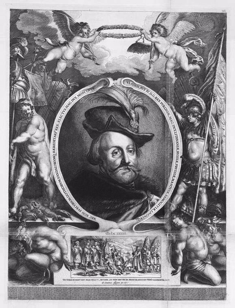 Stock Photo: 4266-4590 Portrait of tsar Michail I by Lucas Vorstermann, etching, 1595-1667, Russia, Moscow, State History Museum