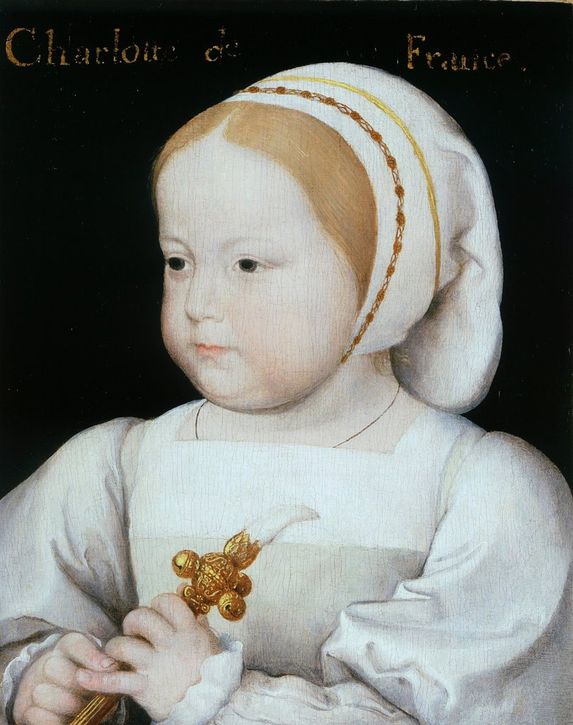 Stock Photo: 4266-4770 Portrait of Madeleine of Valois by Jean Clouet, Oil on wood, circa 1523, circa 1485-1541, Private Collection, 16, 2x12, 7