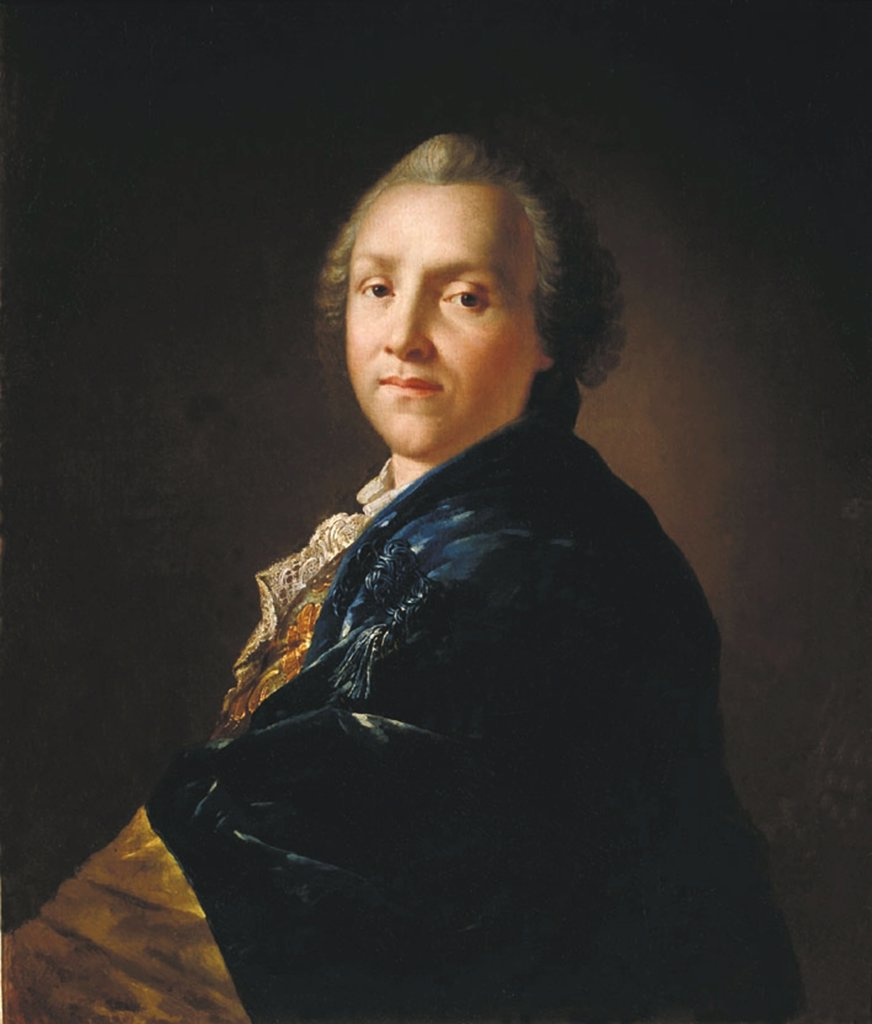Stock Photo: 4266-4839 Portrait of Alexander Sumarokov by Anton Pavlovich Losenko, oil on canvas, 1760, 1737-1773, Russia, St. Petersburg, State Russian Museum, 74x64, 5