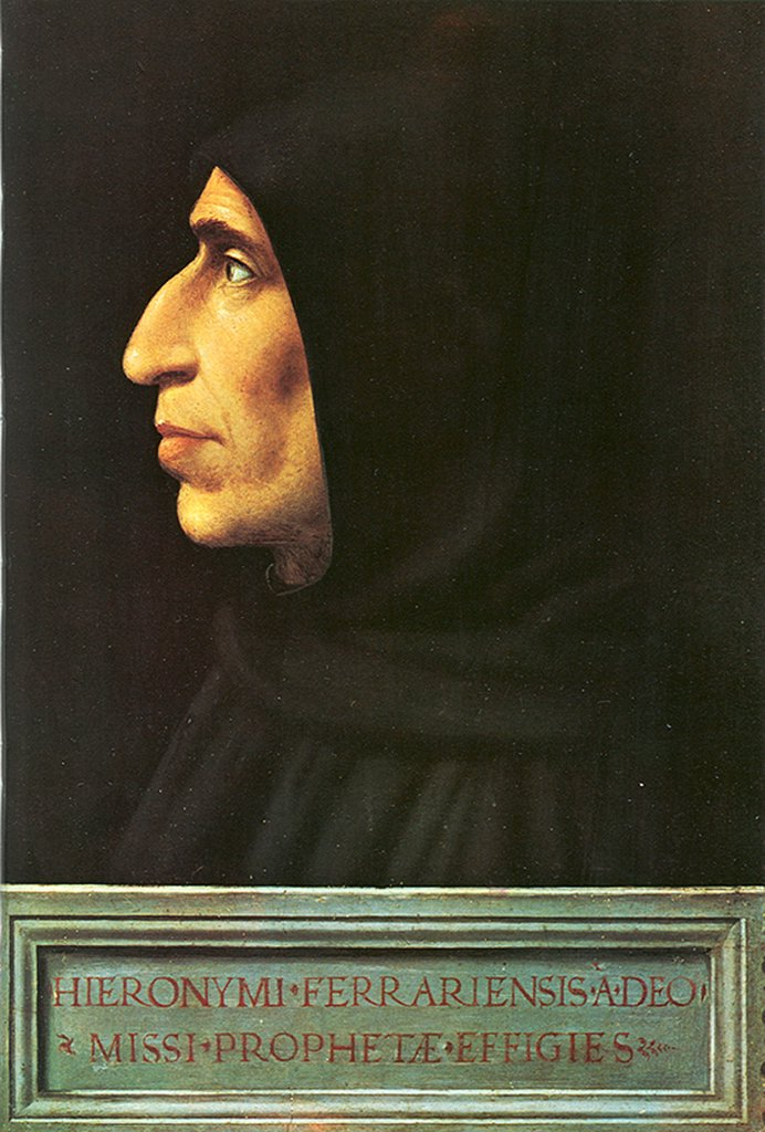 Stock Photo: 4266-4911 Girolamo Savonarola by Fra Bartolommeo, Oil on wood, circa 1497, 1472-1517, Italy, Florence, San Marco, 53x47