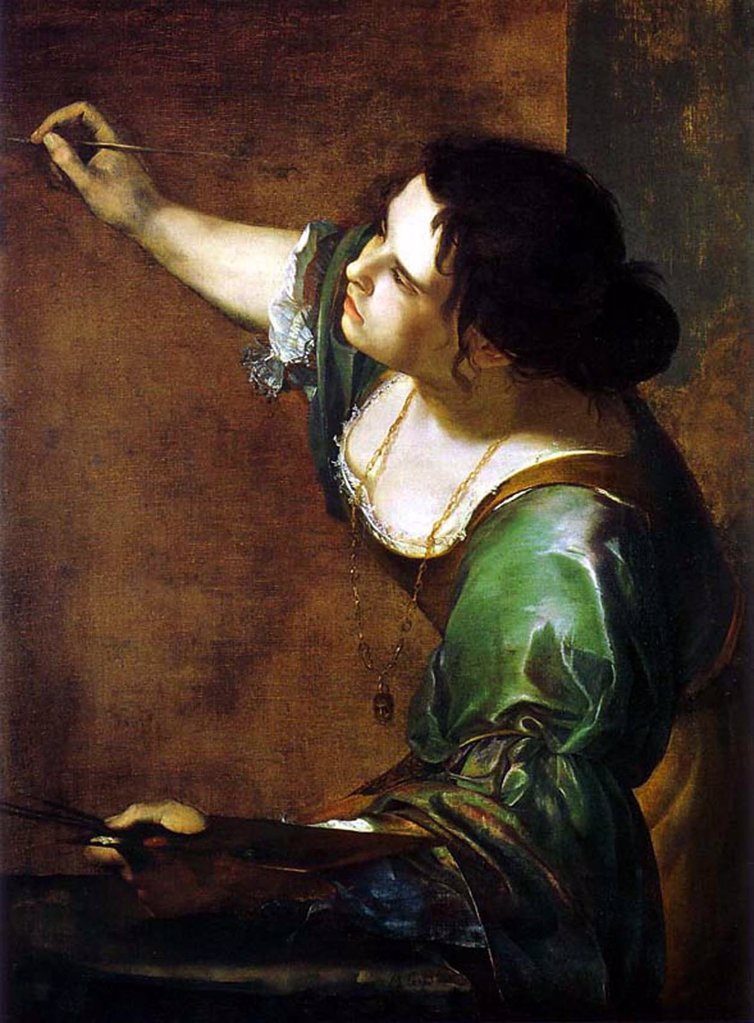 Stock Photo: 4266-4976 Self-portrait by Artemisia Gentileschi, oil on canvas, 1630s, 1598-1653, Great Britain, London, The Royal Collection, 98, 6x75, 2
