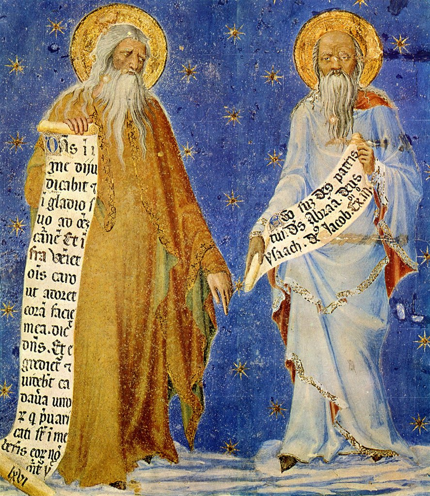 The Ten Commandments by Matteo Giovannetti, fresco, 1346, active 1322–1370, France, Avignon, Palais des Papes : Stock Photo