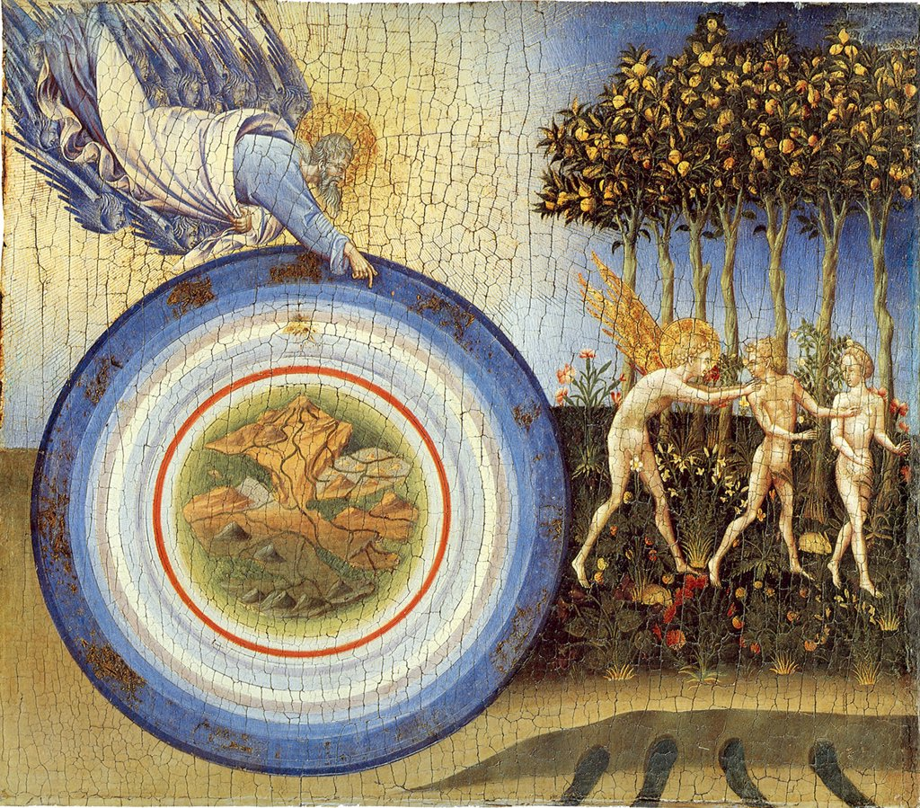 Stock Photo: 4266-5005 Garden of Eden by Giovanni di Paolo, tempera on panel, 1445, circa 1403-1482, USA, New York, Metropolitan Museum of Art, 46, 4x52, 1