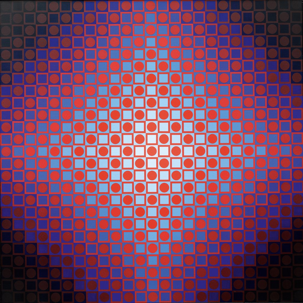 Stock Photo: 4266-5164 Vasarely (1906-1997) Private Collection 1966 250x250 Oil on canvas Op Art Hungary Abstract Art