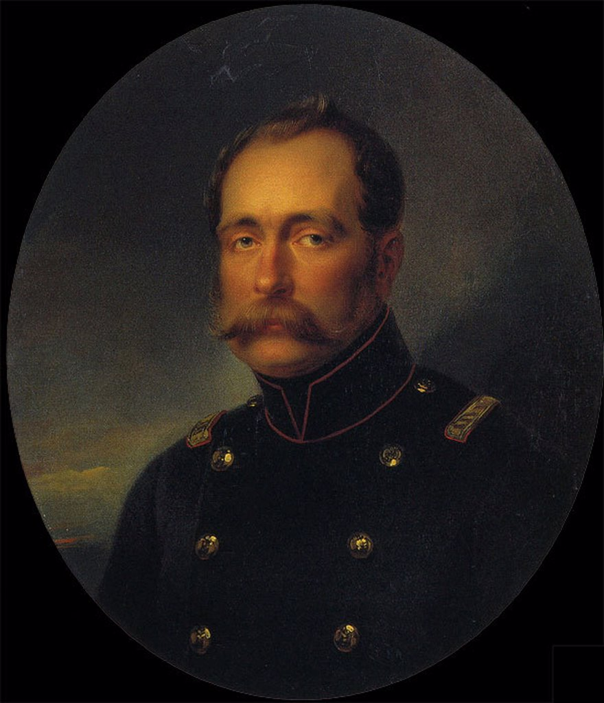 Portrait of Grand Duke Michael Pavlovich by Ivan Nikolayevich Kramskoi, oil on canvas, 1886, 1837-1887, Russia, St. Petersburg, State Russian Museum, 129x92 : Stock Photo
