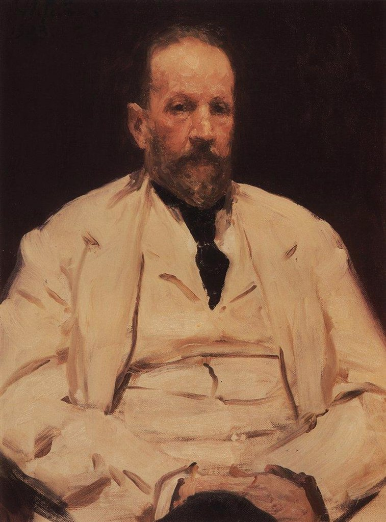 Portrait of Sergei Witte by Ilya Yefimovich Repin, Oil on canvas, 1903, 1844-1930, Russia, St. Petersburg, State Russian Museum, 84x59, 5 : Stock Photo