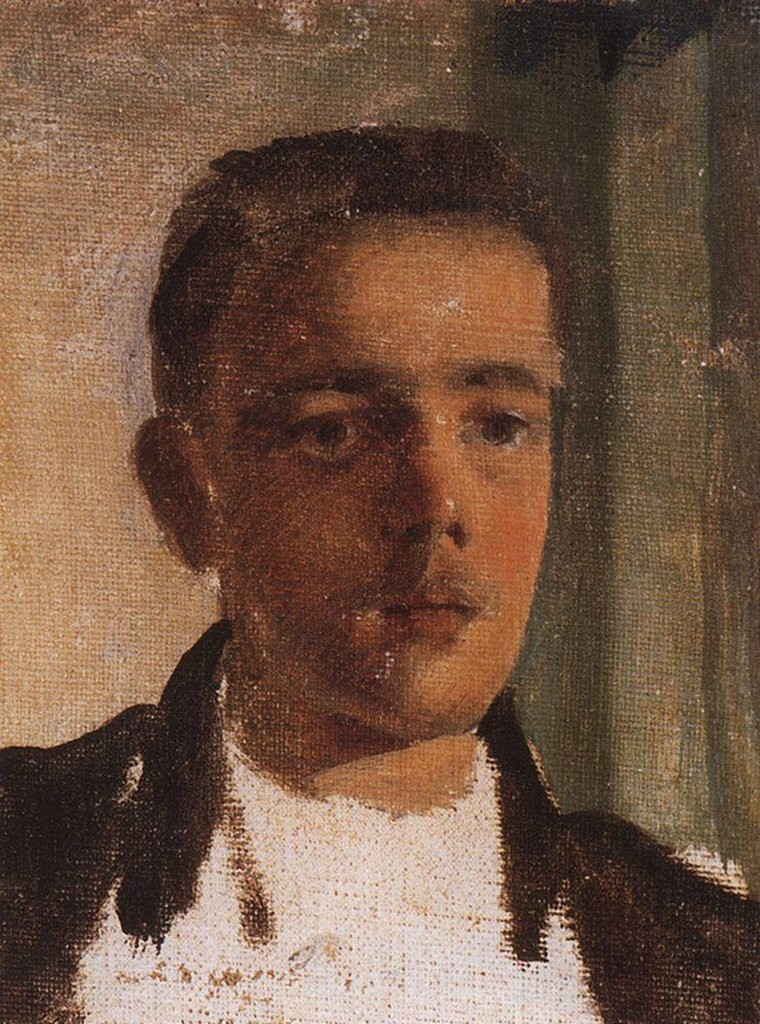Stock Photo: 4266-5312 Portrait of Sergei Dyagilev by Konstantin Andreyevich Somov, Oil on canvas, 1893, 1869-1939, Russia, St. Petersburg, State Russian Museum