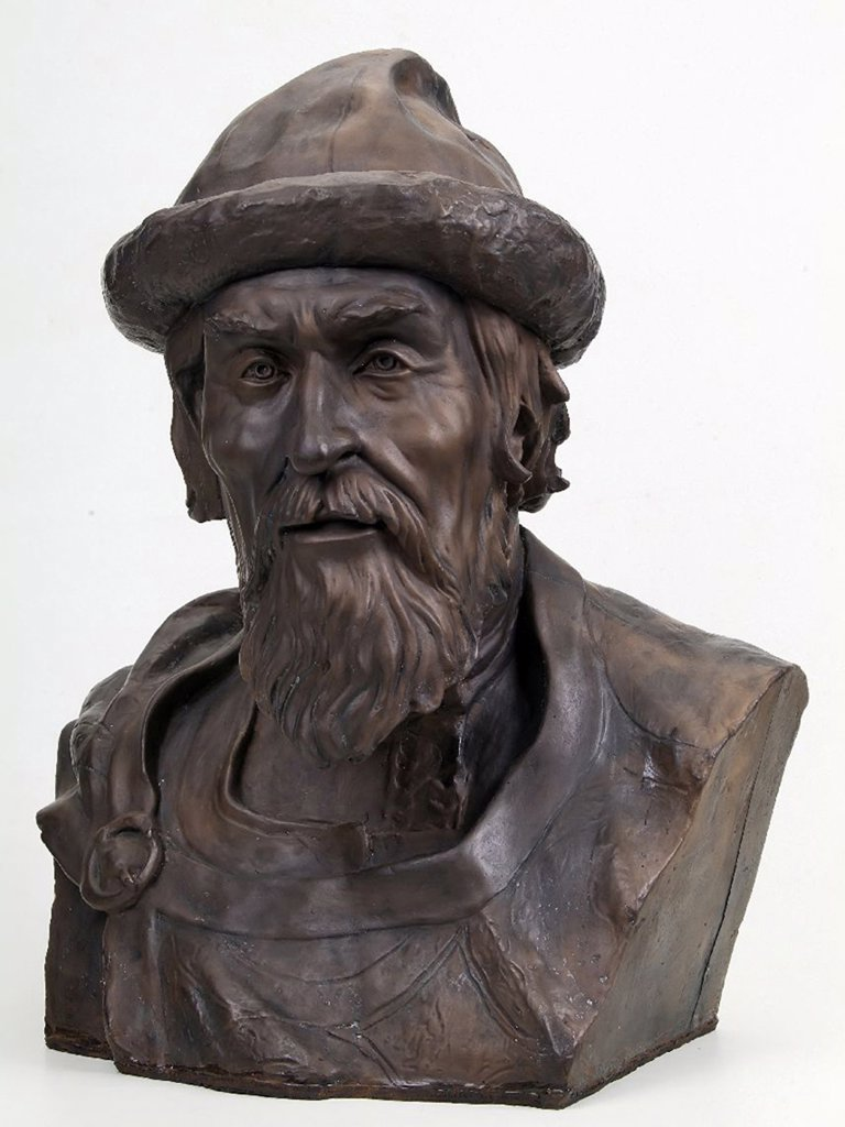 Gerasimov, Mikhail Mikhaylovich (1907-1970) Saint Sophia Cathedral, Kiev 1939 Bronze Applied Arts Russia History Sculpture : Stock Photo