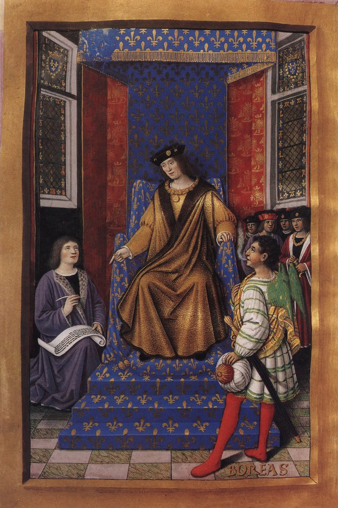 Stock Photo: 4266-5334 King Louis XII by Jean Bourdichon, Tempera and gold on parchment, 1457-1521, 16th century, France, Bibliotheque Nationale de France