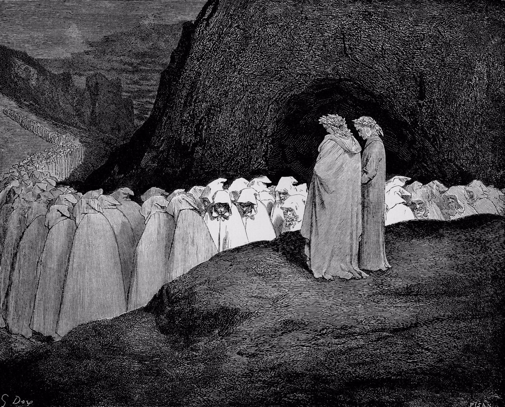 Stock Photo: 4266-5363 Last Judgment by Gustave Dore, Woodcut, 1861, 1832-1883, Private Collection