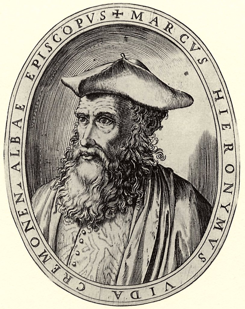Stock Photo: 4266-5375 Portrait of italian bishop and poet Marco Girolamo Vida by Antonio Campi, Copper engraving, 1582–1584, circa 1522-1587, Private Collection, 15x11, 5