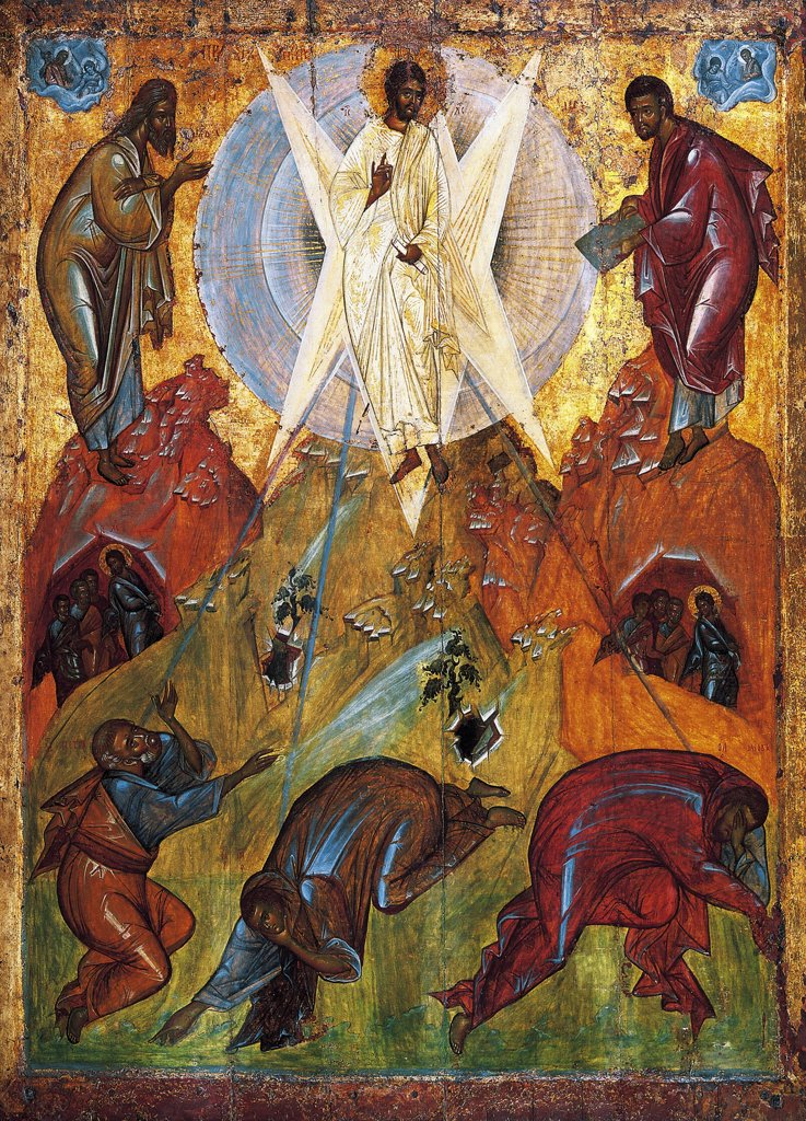 Stock Photo: 4266-5387 Transfiguration of Jesus by Theophanes the Greek, Tempera on panel, circa 1403, circa 1340-circa 1410, Russia, Moscow, State Tretyakov Gallery, 184x134