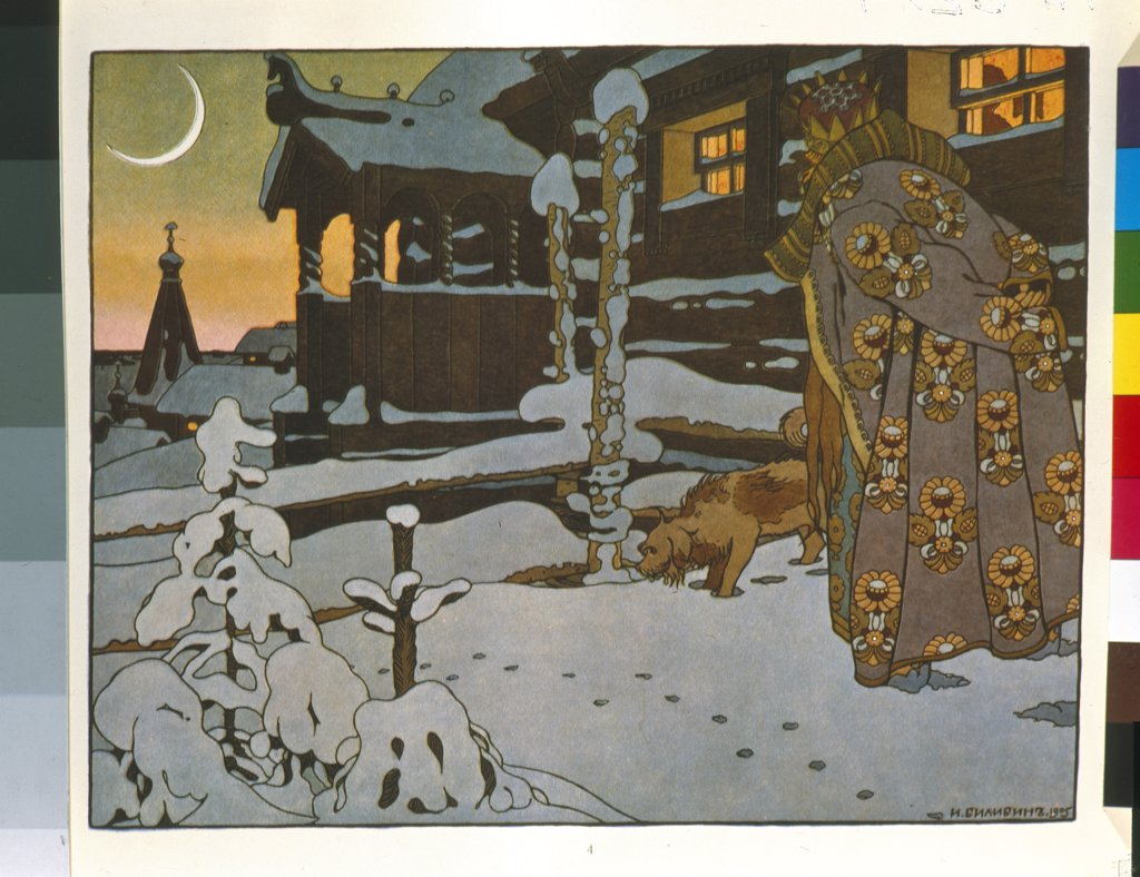 Stock Photo: 4266-5510 Bilibin, Ivan Yakovlevich (1876-1942) A. Pushkin Memorial Museum, St. Petersburg 1905 Watercolour, Gouache, white colour, ink on paper