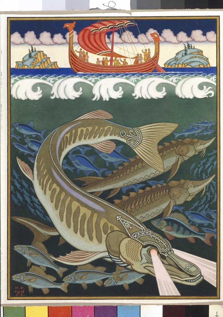 Bilibin, Ivan Yakovlevich (1876-1942) State Russian Museum, St. Petersburg 1928 46,5x38 Watercolour on paper  : Stock Photo