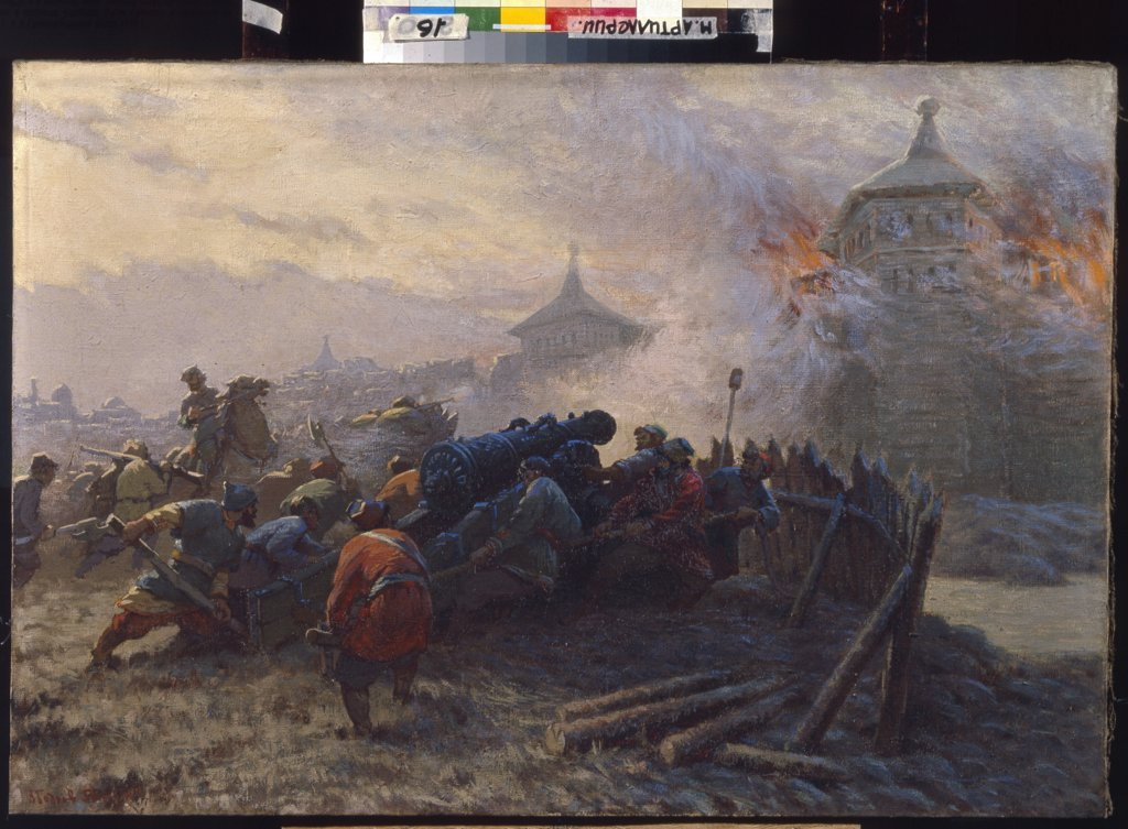Stock Photo: 4266-5561 Bodrov, Vladimir Stepanovich (*1924) State Central Artillery Museum, St. Petersburg 1956 69x95 Oil on canvas Soviet Art History