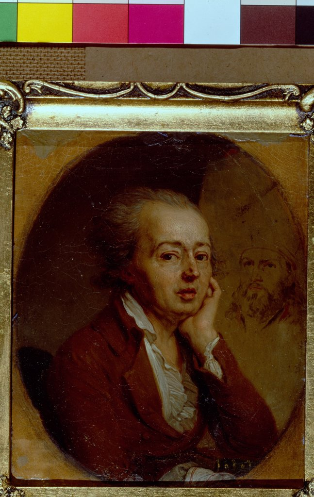 Stock Photo: 4266-5573 Portrait of painter Dimitri Levitsky by Vladimir Lukich Borovikovsky, Oil on cardboard, 1796, 1757-1825, Russia, St. Petersburg, State Russian Museum