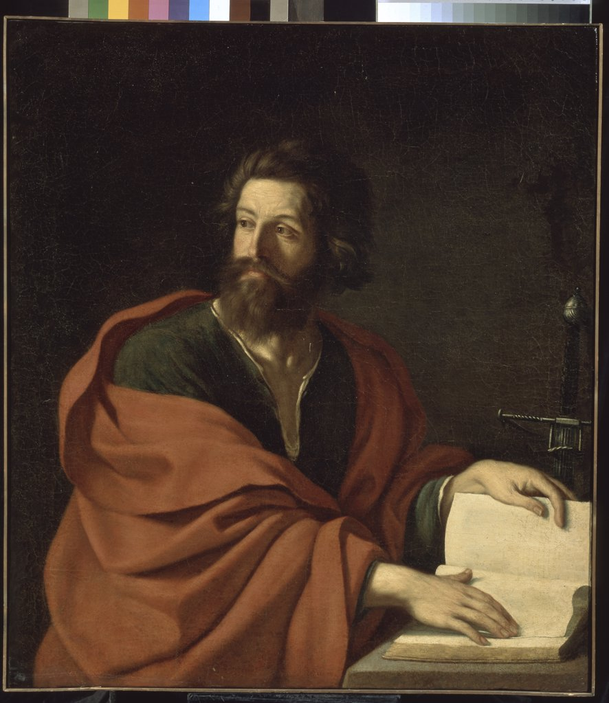 Apostole Paul by Guercino, Oil on canvas, 1640s, Baroque, 1591-1666, Russia, Moscow, State A. Pushkin Museum of Fine Arts, 111, 5x99 : Stock Photo