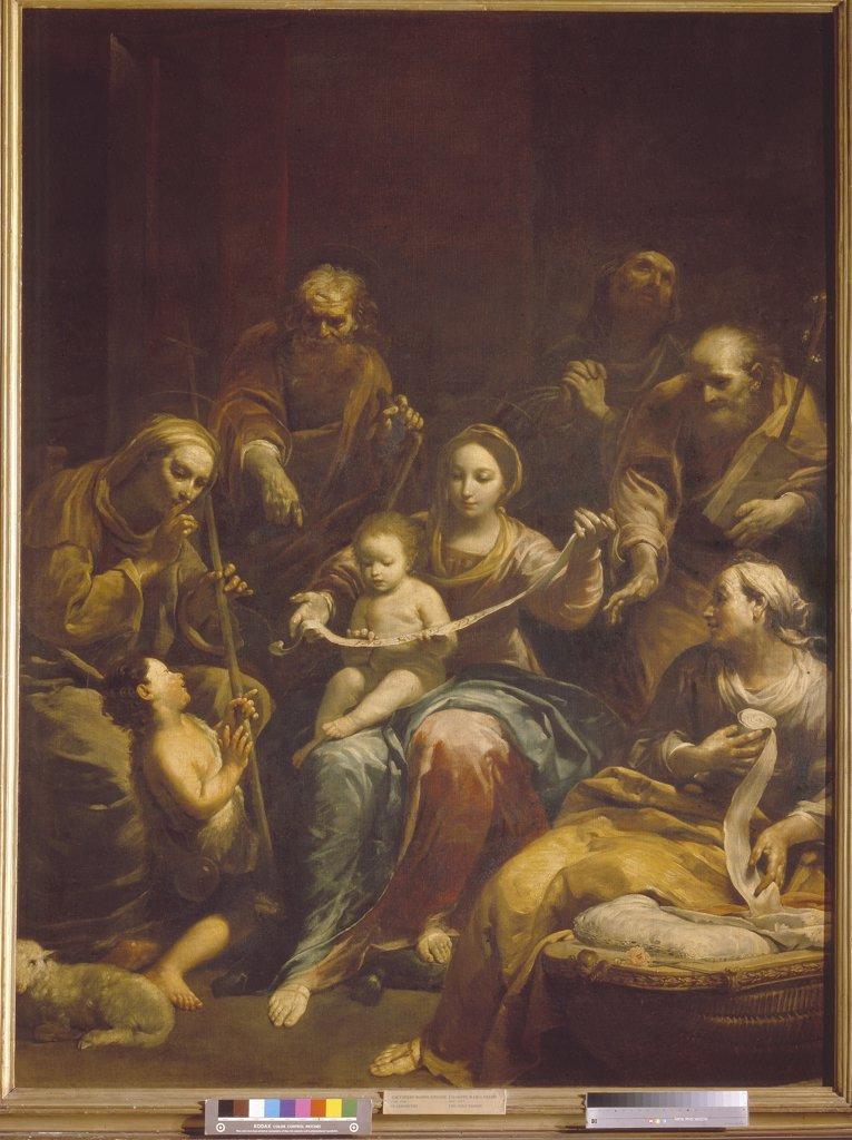 Stock Photo: 4266-5747 Madonna with Infant Christ by Giuseppe Maria Crespi, Oil on canvas, circa 1712, Baroque, 1665-1747, Russia, Moscow, State A. Pushkin Museum of Fine Arts, 248x192