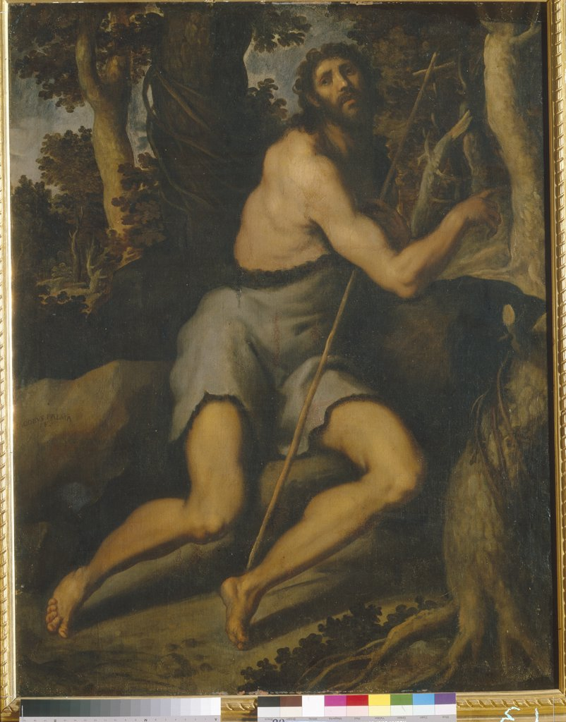 John Baptist by Jacopo Palma il Giovane the Younger, Oil on canvas, Mannerism, 1544-1628, Ukraine, Kiev, Museum of Western and Oriental Art, : Stock Photo