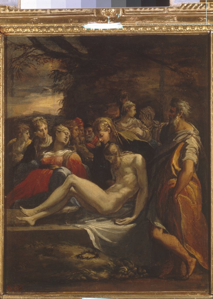 Stock Photo: 4266-5908 Descent from cross by Parmigianino, Oil on canvas, Mannerism, 1503-1540, Russia, St. Petersburg, State Hermitage, 32x26,5