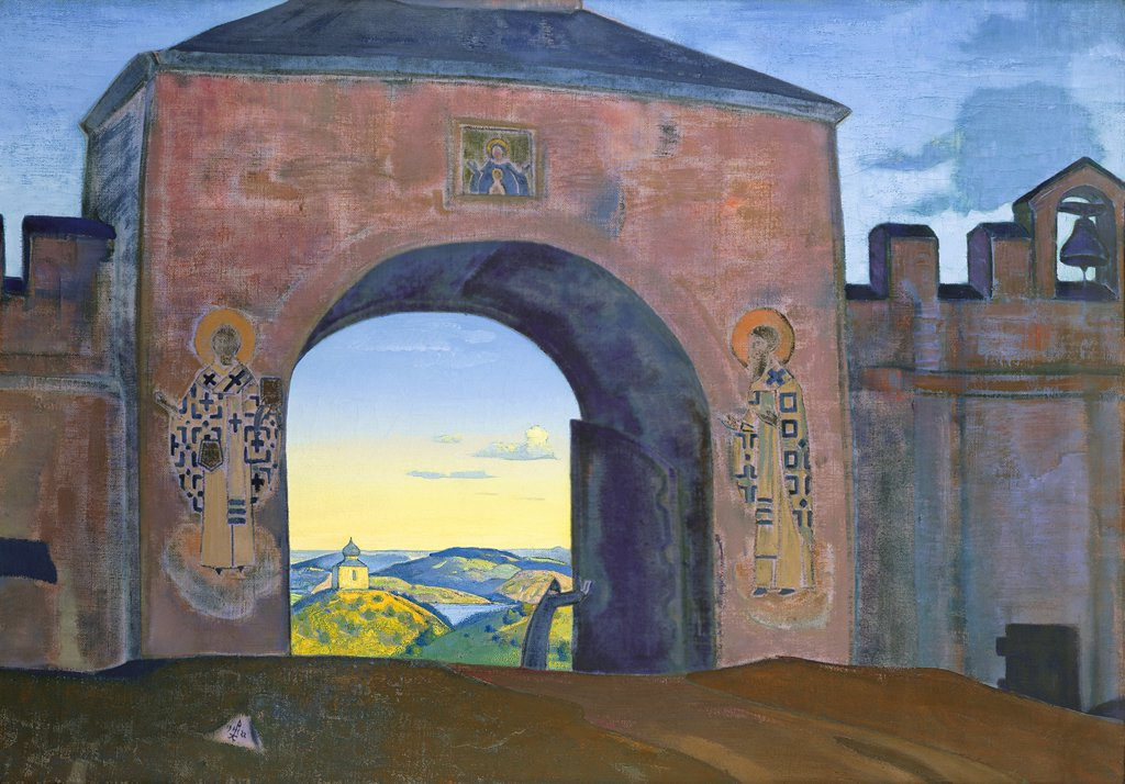 Stock Photo: 4266-6135 Roerich, Nicholas (1874-1947) International Centre of the Roerichs, Moscow 1922 70,3x100,4 Tempera on canvas Symbolism Russia Bible