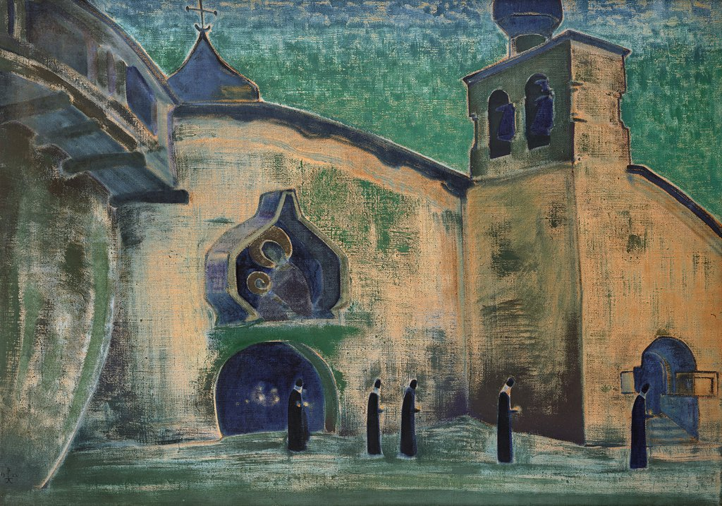 Stock Photo: 4266-6136 Roerich, Nicholas (1874-1947) International Centre of the Roerichs, Moscow 1922 71x101,5 Tempera on canvas Symbolism Russia Bible