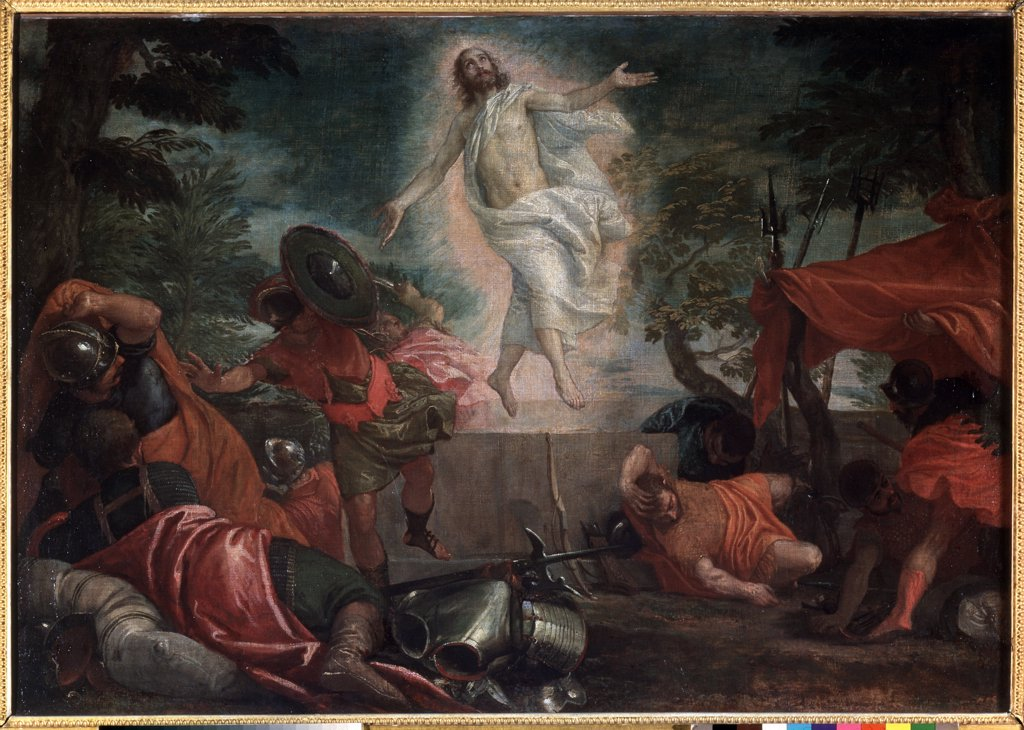 Stock Photo: 4266-6196 Ascension of Christ by Paolo Veronese, Oil on canvas, circa 1580, Renaissance, 1528-1588, Russia, Moscow, State A. Pushkin Museum of Fine Arts, 97x140