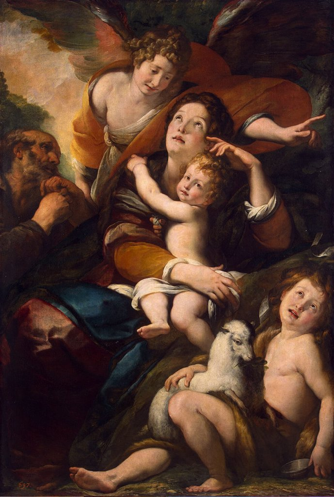 Blessed Virgin Mary by Giulio Cesare Procaccini, Oil on canvas, 1620-1625, Mannerism, 1574-1625, Russia, St. Petersburg, State Hermitage, 157x107,5 : Stock Photo