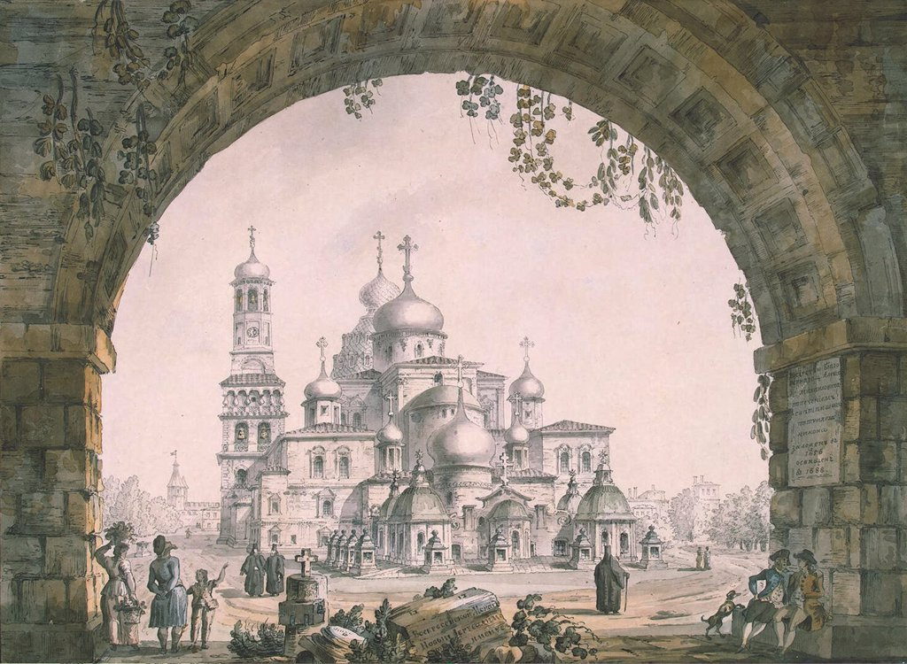 Stock Photo: 4266-6239 Resurrection cathedral by Giacomo Antonio Domenico Quarenghi, Watercolour and ink on paper, 1797,Classicism, 1744-1817, Russia, St. Petersburg, State Hermitage, St. Petersburg 43,4x57,5