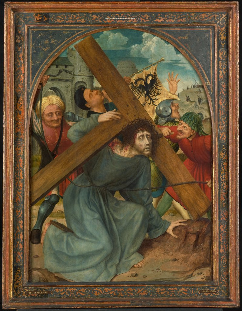 Stock Photo: 4266-6312 Road to Calvary by Quentin Matsys, oil on wood, 1515, 1466–1530, Holland, Amsterdam, Rijksmuseum, 82,6x59