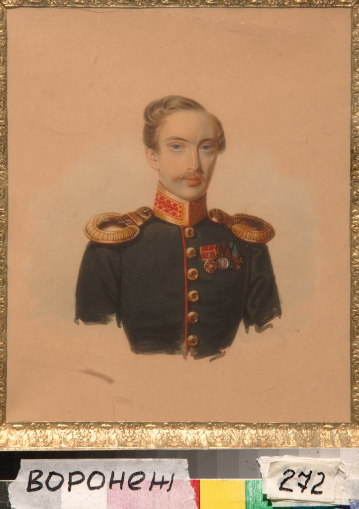 Stock Photo: 4266-6394 Portrait of Ivan Goncharov by Alexander Ivanovich Klunder, Watercolour on paper, 1839, 1802-1875, Russia, Voronezh, Regional I. Kramskoi Art Museum, 21x17,5