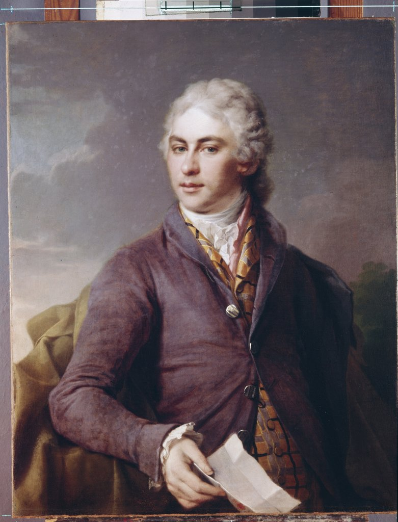 Stock Photo: 4266-6402 Portrait of Yakov Bilibin by Dmitri Grigorievich Levitsky, Oil on canvas, 1801, 1735-1822, Russia, St. Petersburg, State Hermitage, 81x63
